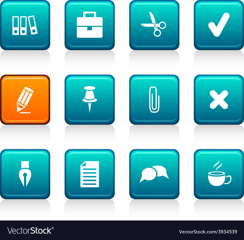 Office icons vector | Price: 1 Credit (USD $1)
