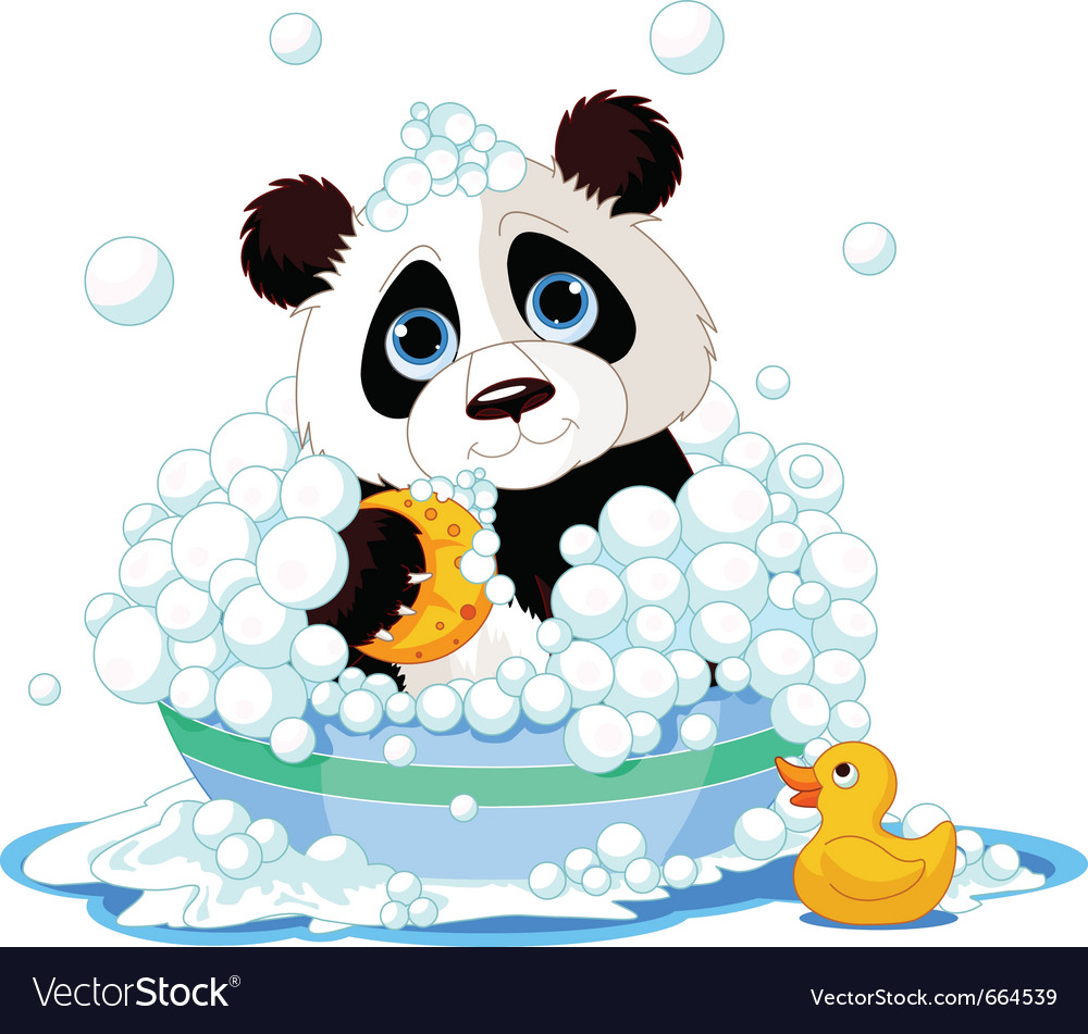 Panda bath vector | Price: 3 Credit (USD $3)