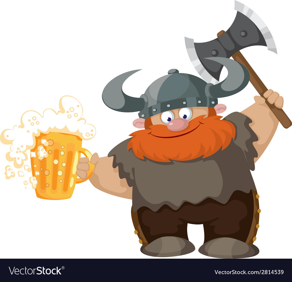 Viking and beer vector | Price: 3 Credit (USD $3)