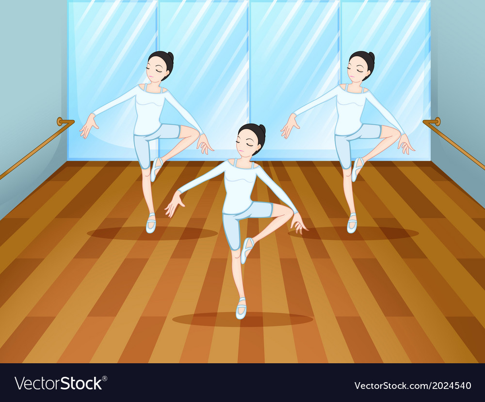 A dance rehearsal inside the studio vector | Price: 3 Credit (USD $3)