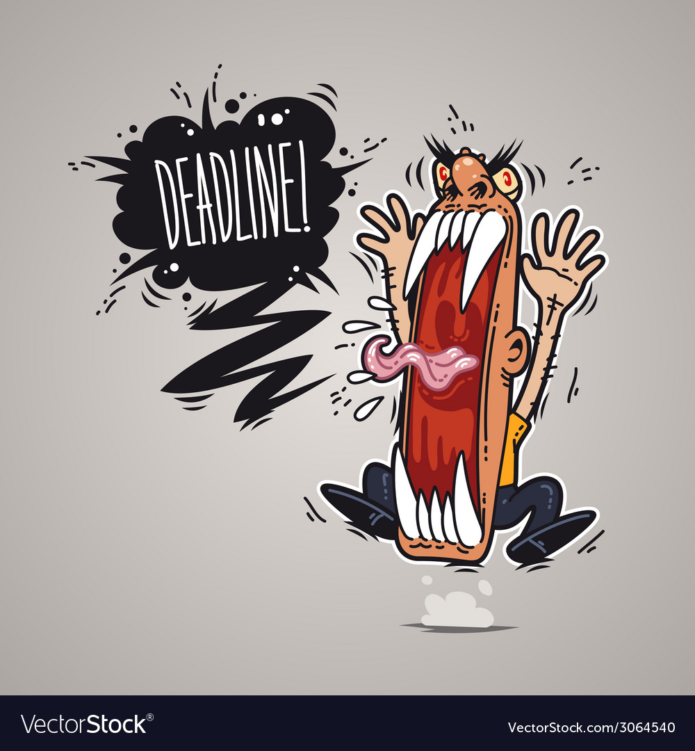 Angry boss screaming deadline vector | Price: 1 Credit (USD $1)