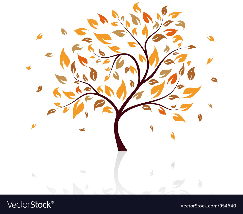 Autumn tree vector | Price: 1 Credit (USD $1)