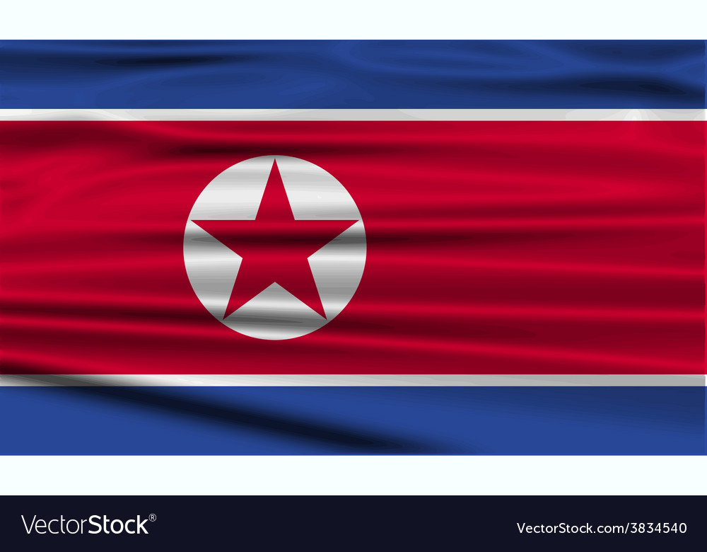 Flag of north korea with old texture vector | Price: 1 Credit (USD $1)