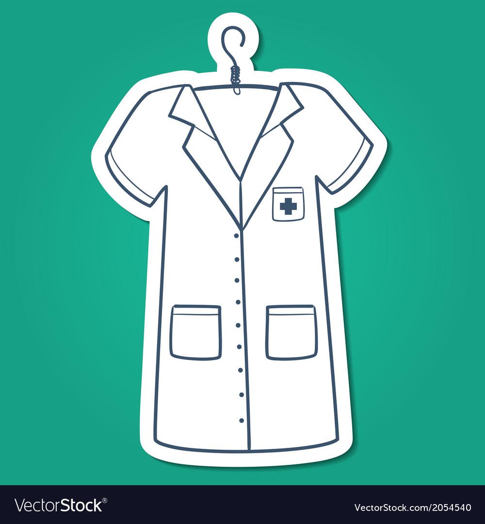 Nurse doctor or other medical staff uniform vector | Price: 1 Credit (USD $1)