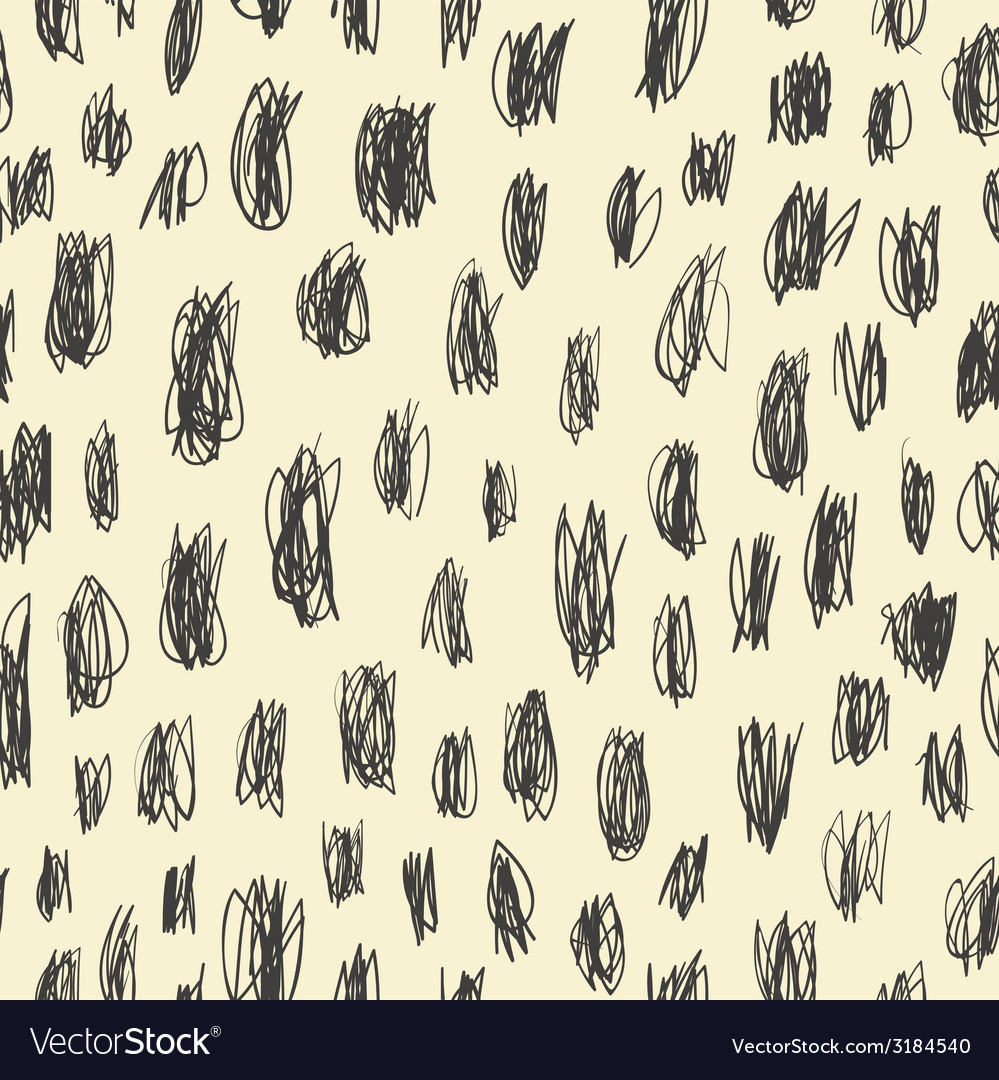 Seamless pattern doodles scribbles vector | Price: 1 Credit (USD $1)