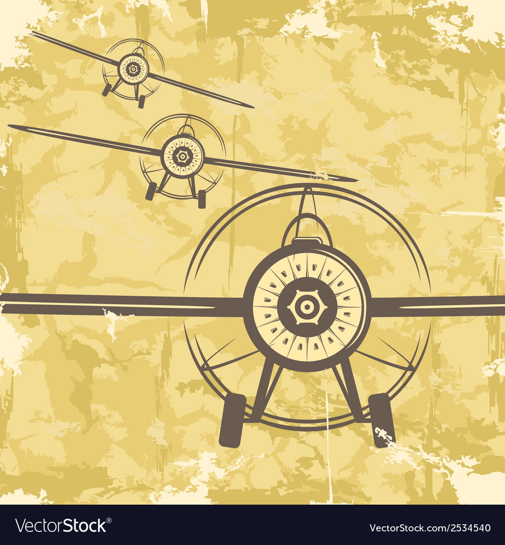 Vintage grunge postcard design with plane vector | Price: 1 Credit (USD $1)
