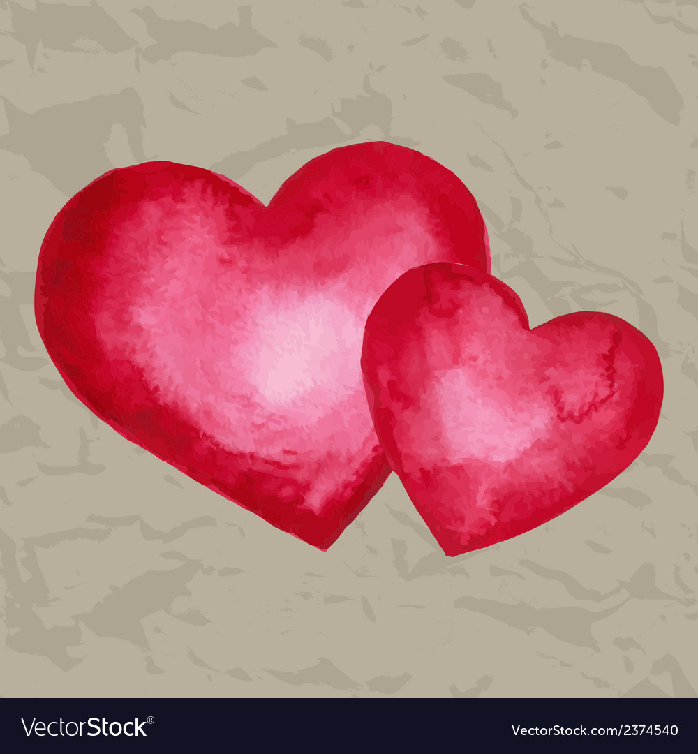 Watercolor heart design element vector | Price: 1 Credit (USD $1)