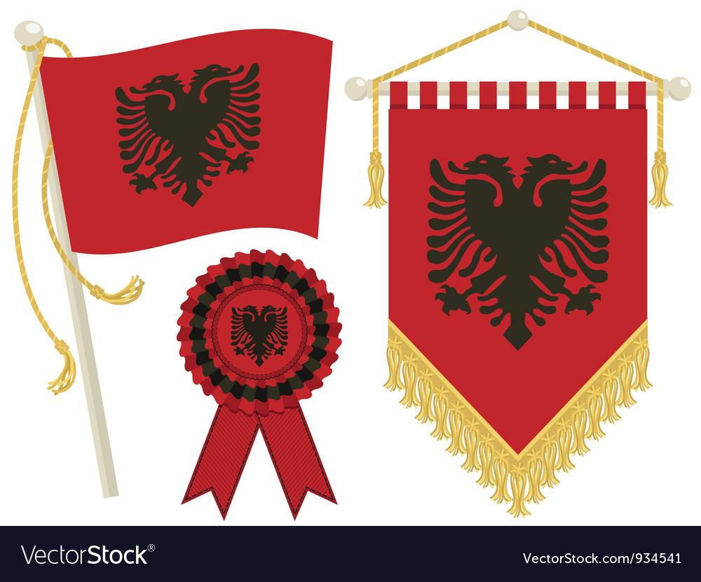 Albania flags vector | Price: 1 Credit (USD $1)