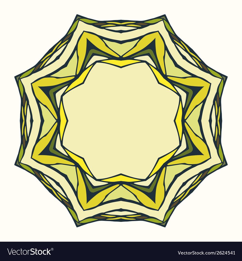 Ethnic round mandala ornamental frame vector | Price: 1 Credit (USD $1)