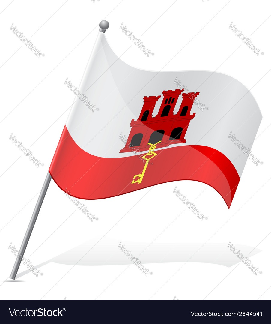 Flag of gibraltar vector | Price: 1 Credit (USD $1)