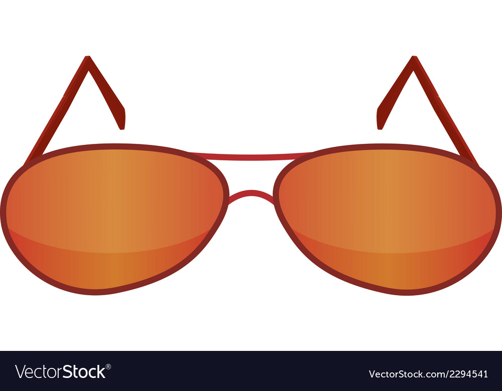 Glasses red 1 v vector | Price: 1 Credit (USD $1)