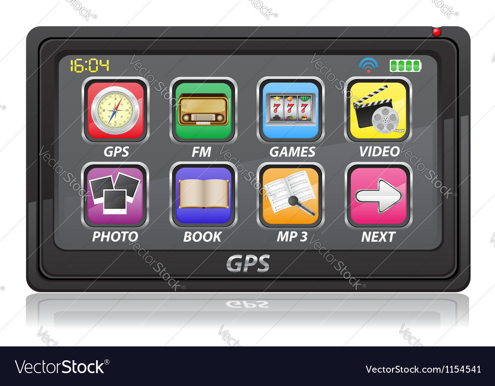 Gps navigator 02 vector | Price: 1 Credit (USD $1)