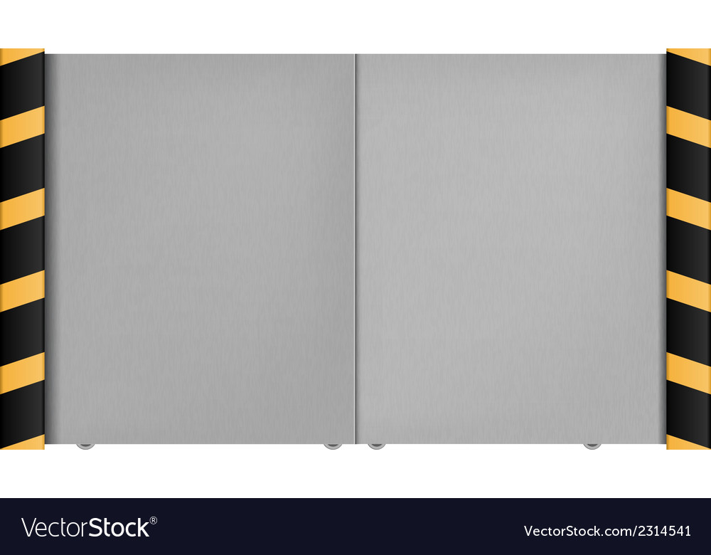 Metal gate on a white background vector | Price: 1 Credit (USD $1)