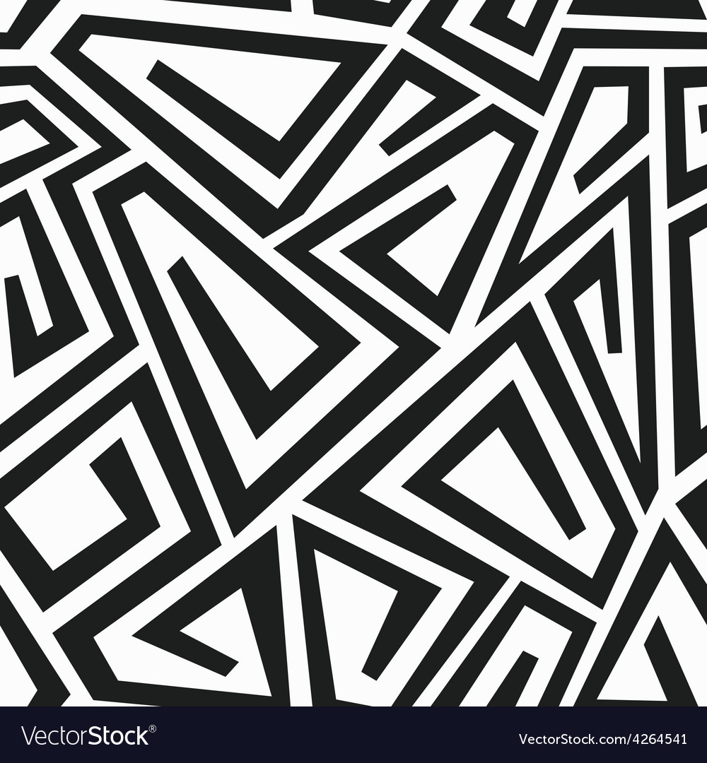 Monochrome curve maze seamless pattern vector | Price: 1 Credit (USD $1)