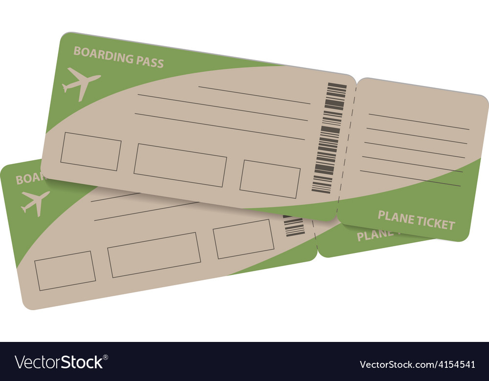 Plane tickets couple vector | Price: 1 Credit (USD $1)