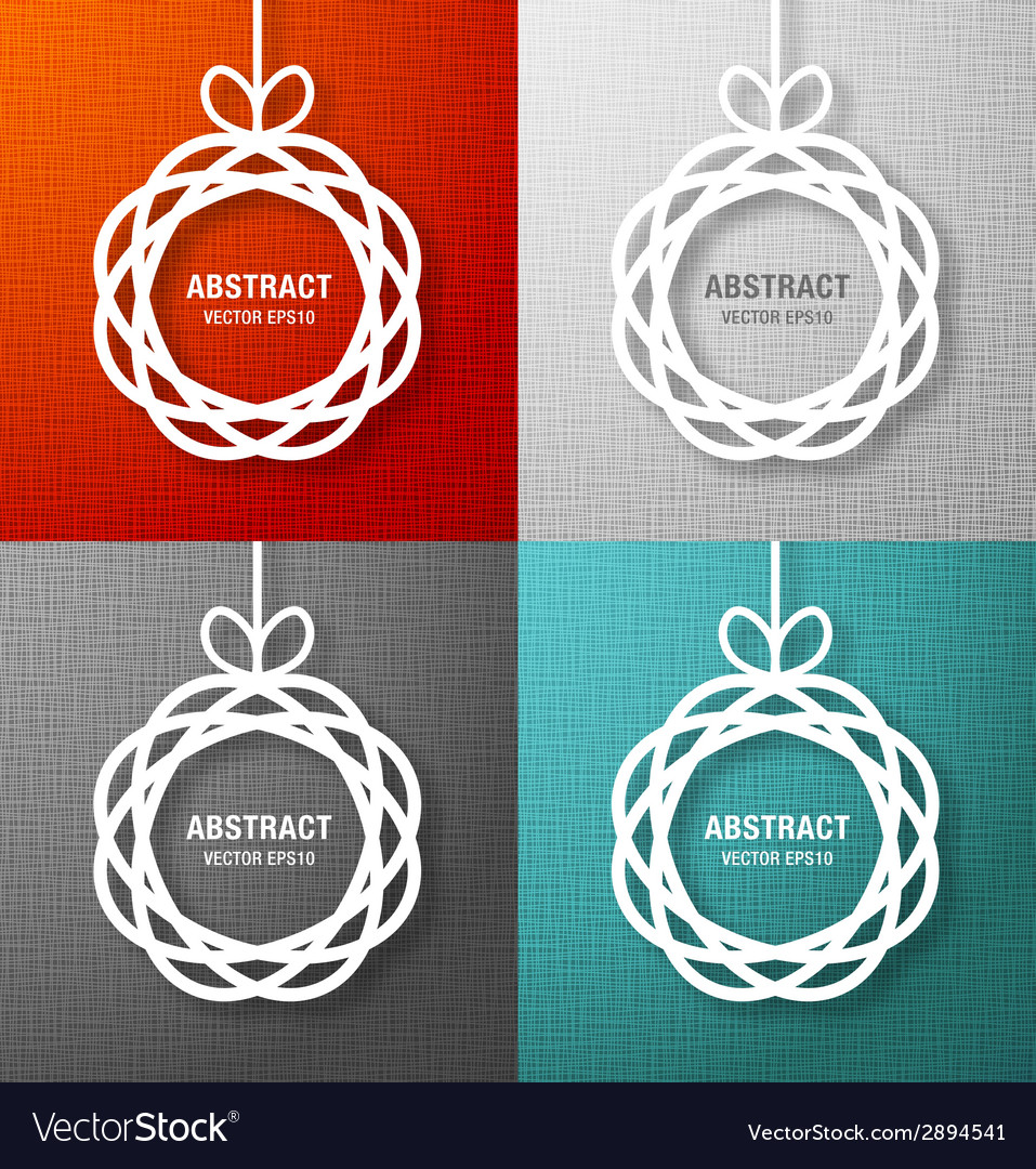 Set of abstract circles paper applique vector | Price: 1 Credit (USD $1)