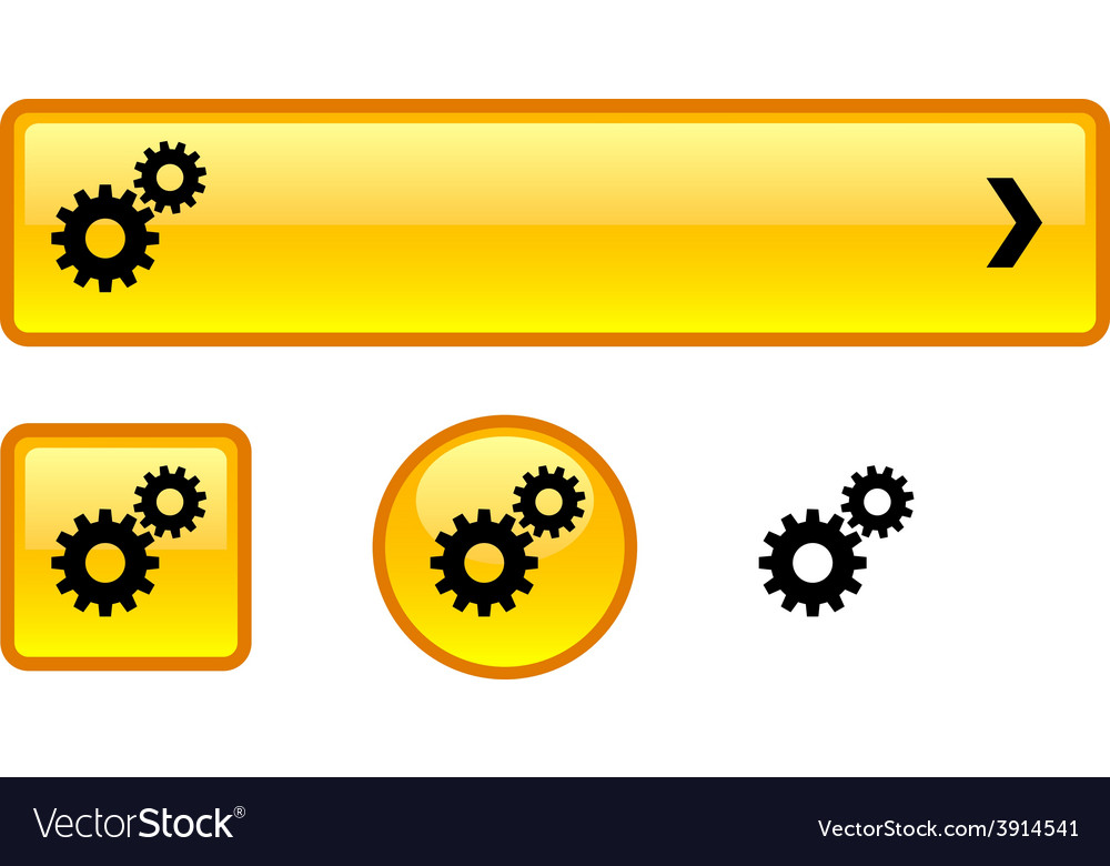 Settings button set vector | Price: 1 Credit (USD $1)