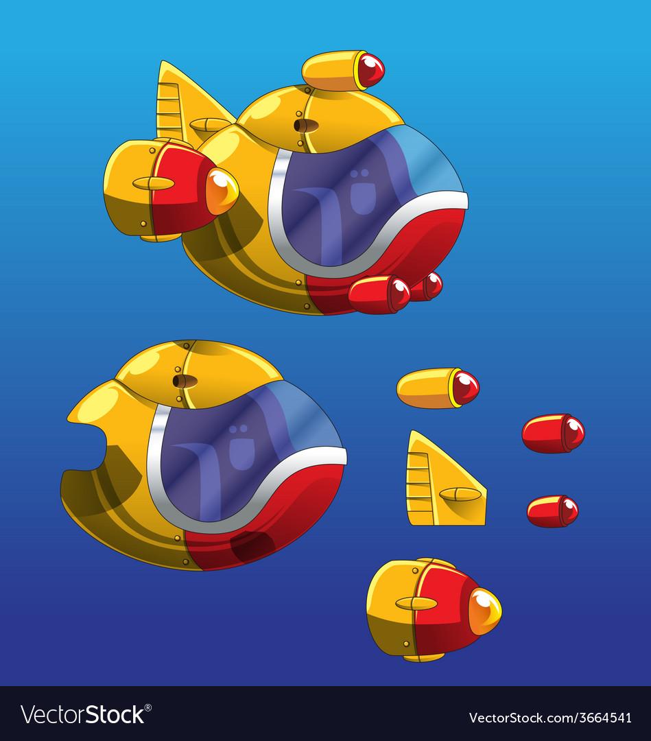 Submarine sprite vector | Price: 3 Credit (USD $3)
