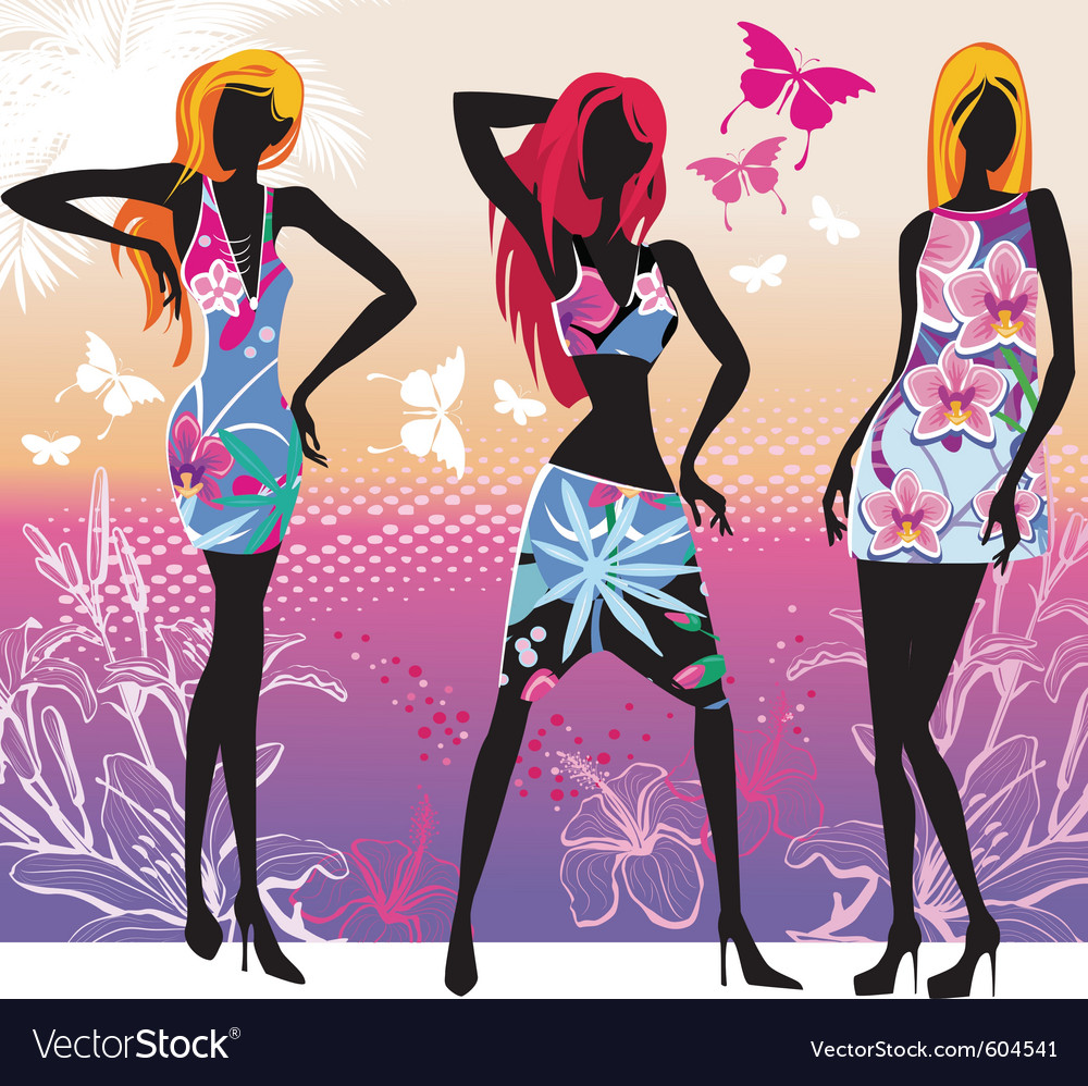 Summer fashion vector | Price: 3 Credit (USD $3)