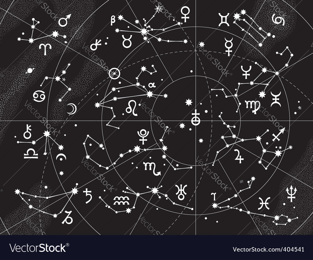 Xii constellations of zodiac vector | Price: 1 Credit (USD $1)
