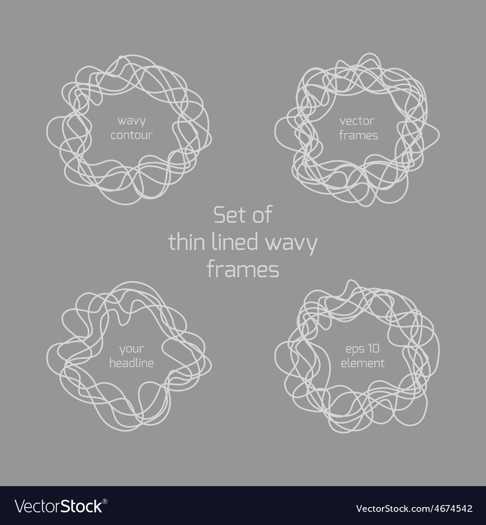 Abstract hand drawn thin lined wave in the shape vector | Price: 1 Credit (USD $1)