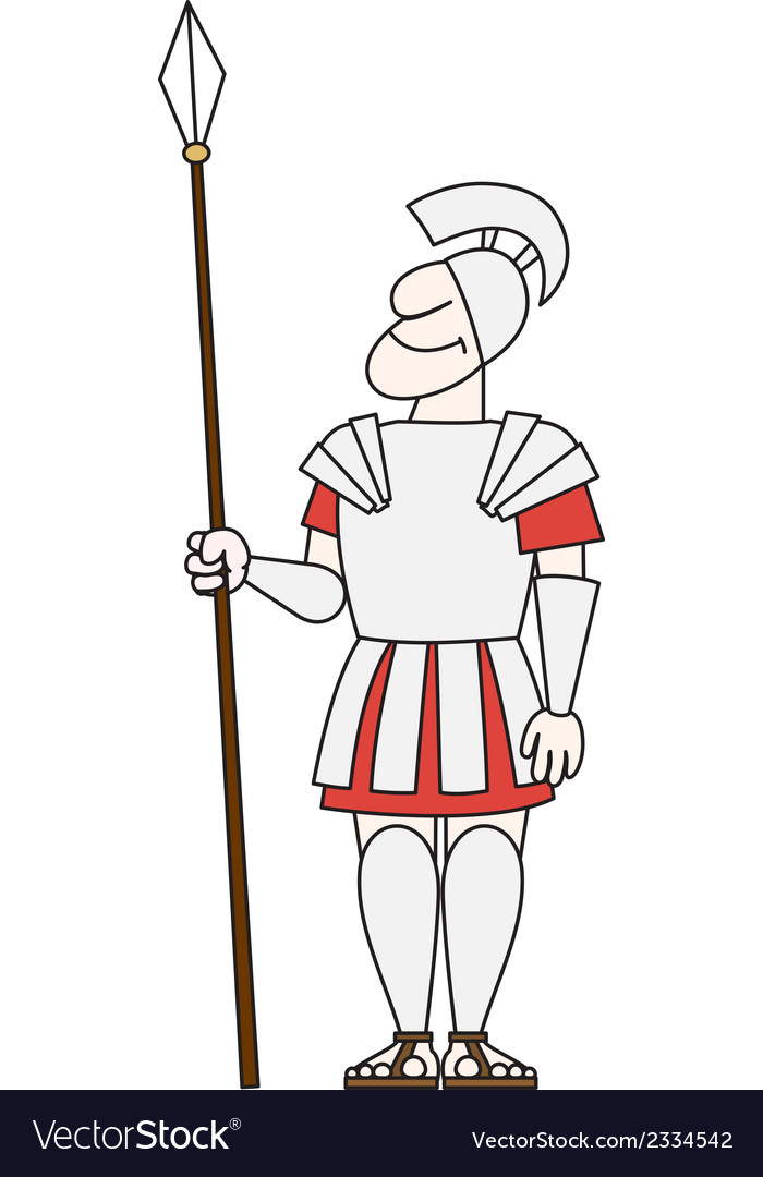Ancient warrior pikeman vector | Price: 1 Credit (USD $1)