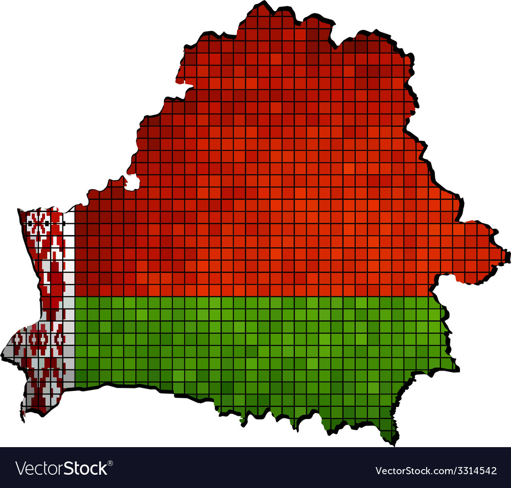 Belarus map with flag inside vector   Price: 1 Credit (USD $1)