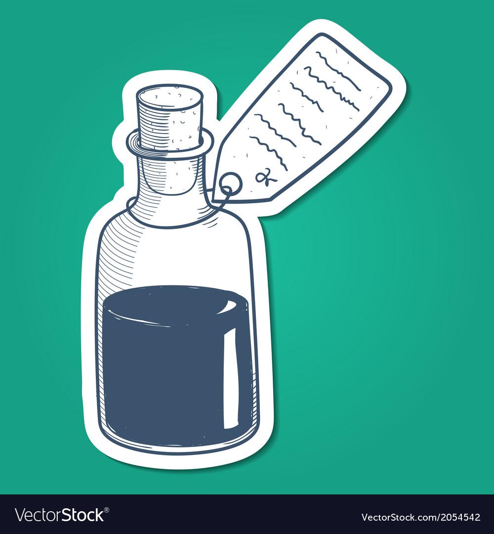 Bottle with liquid mixture vector | Price: 1 Credit (USD $1)