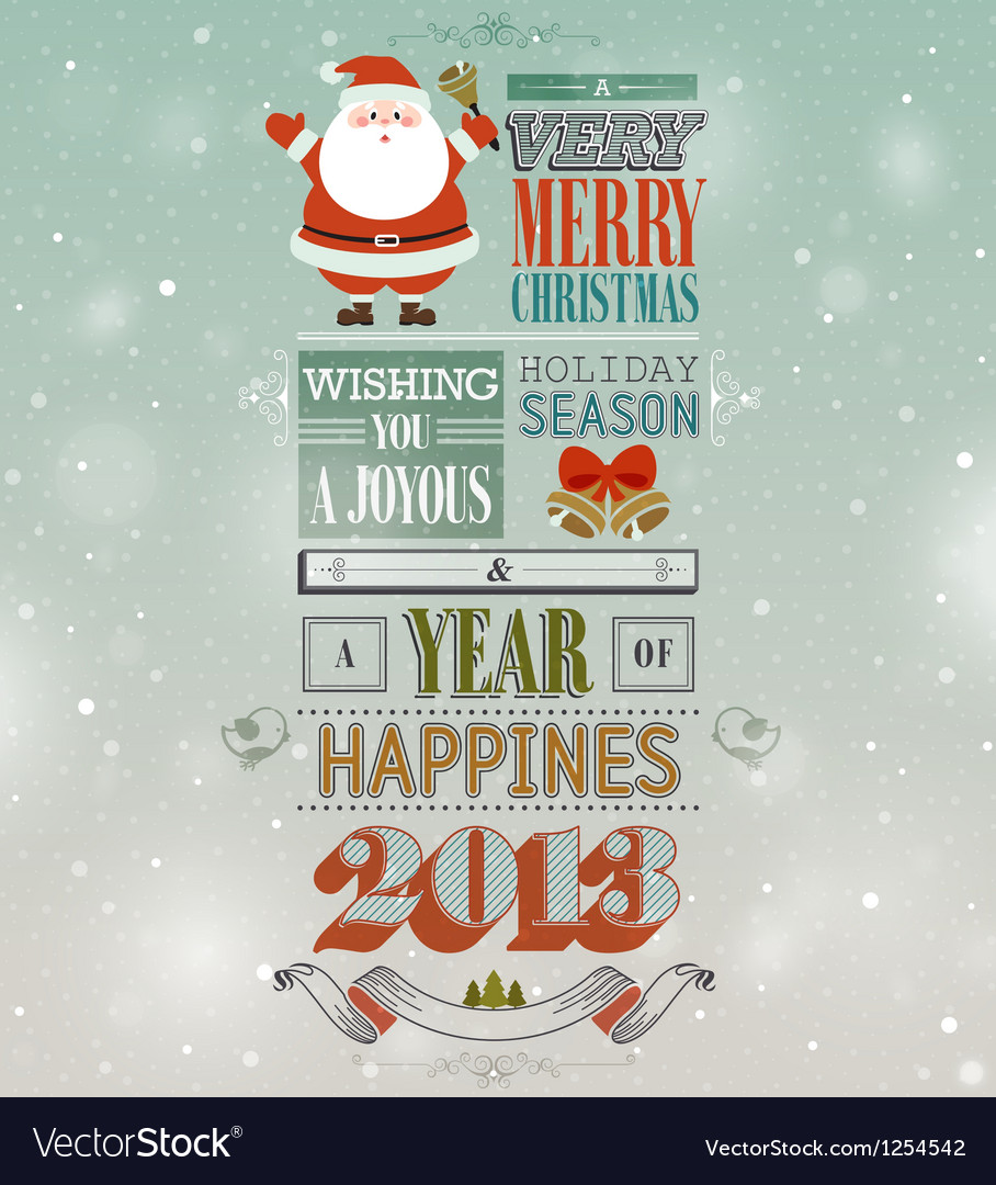 Christmas vintage card vector | Price: 3 Credit (USD $3)