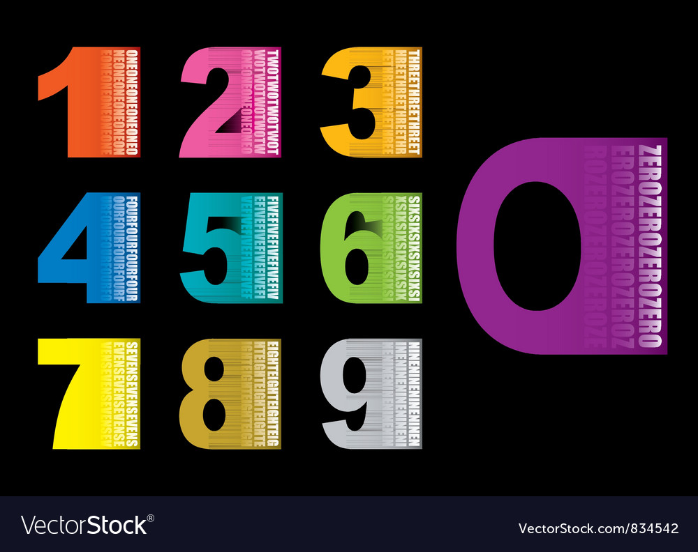 Copy space numbers vector | Price: 1 Credit (USD $1)