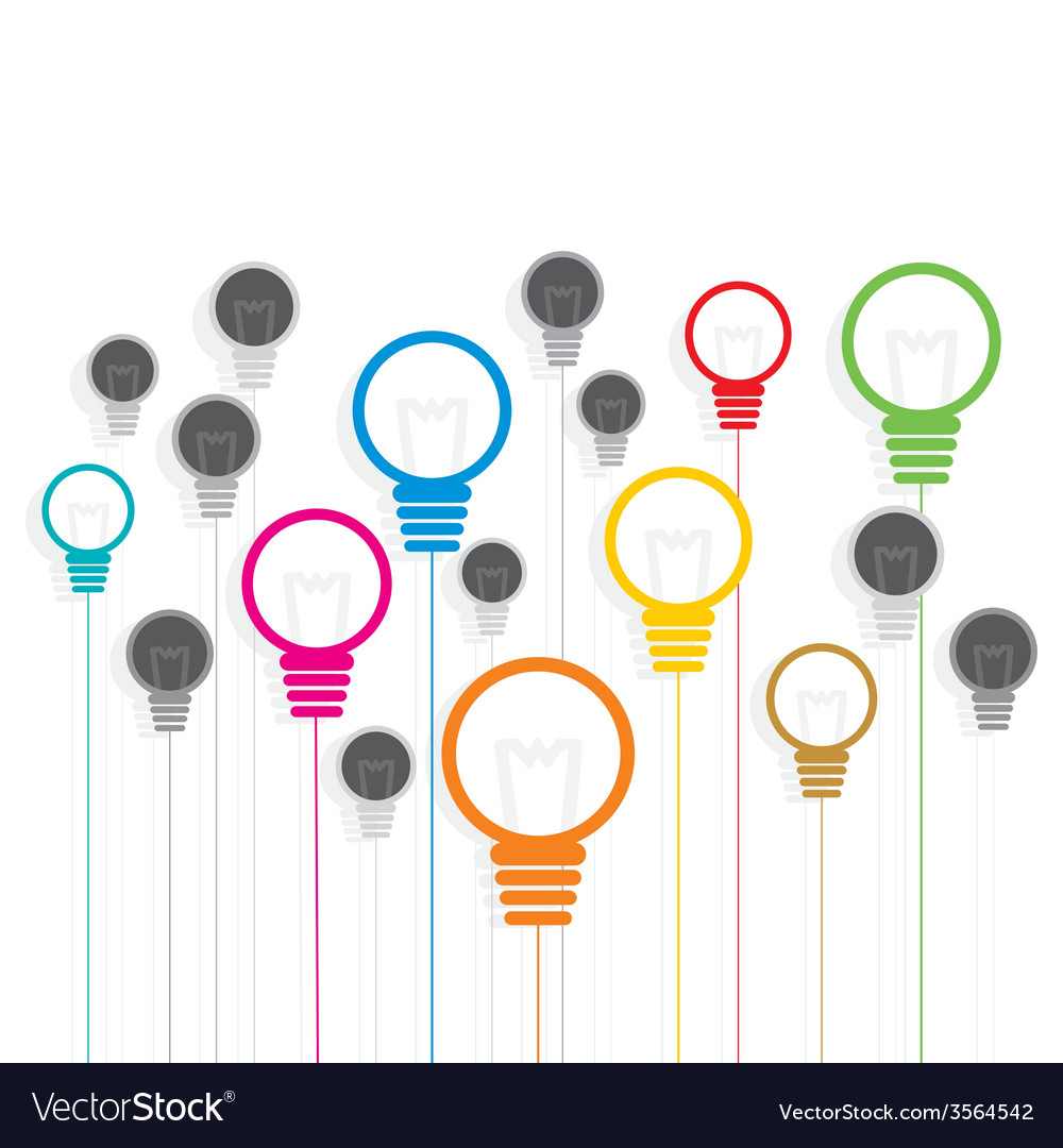 Creative colorful bulb background design vector | Price: 1 Credit (USD $1)