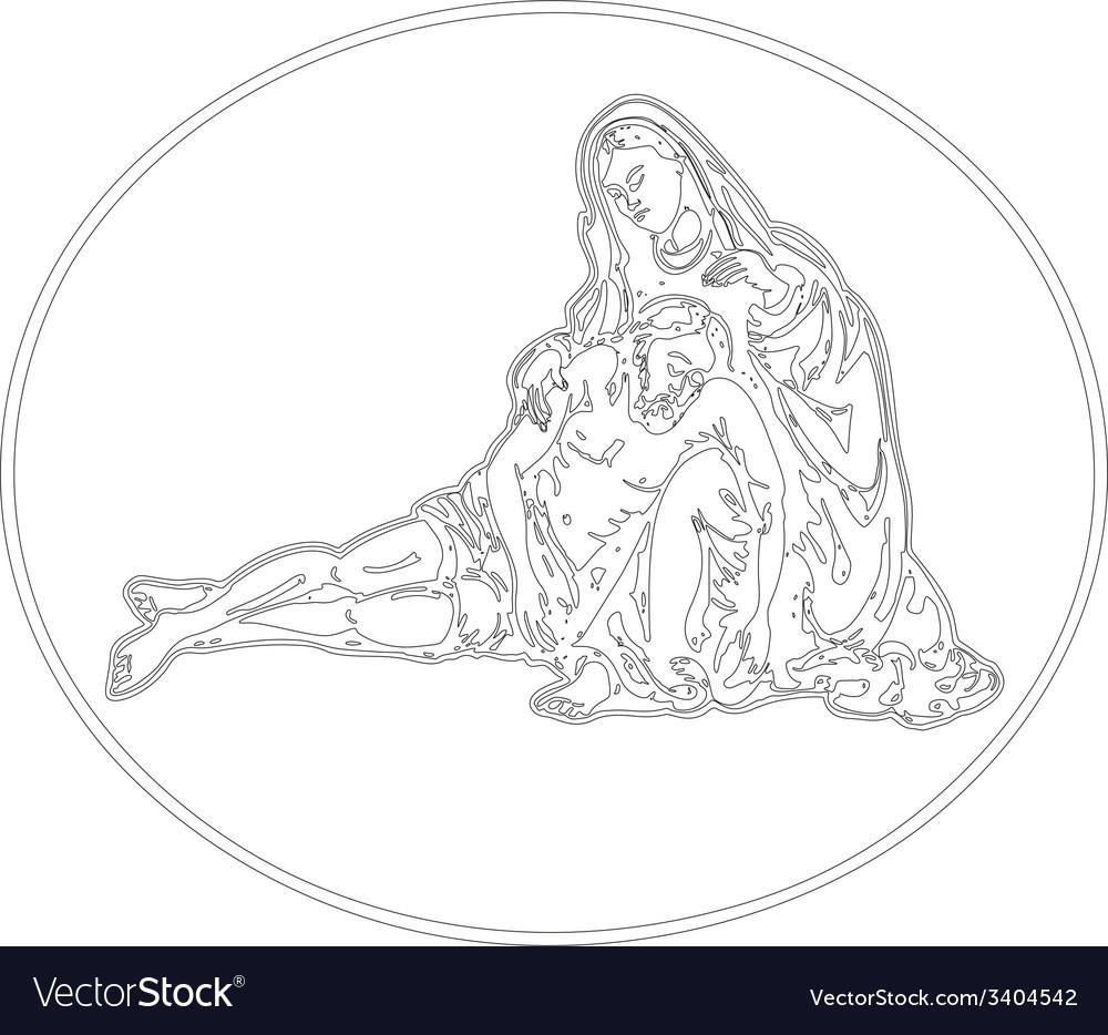Jesus descend pieta vector | Price: 1 Credit (USD $1)