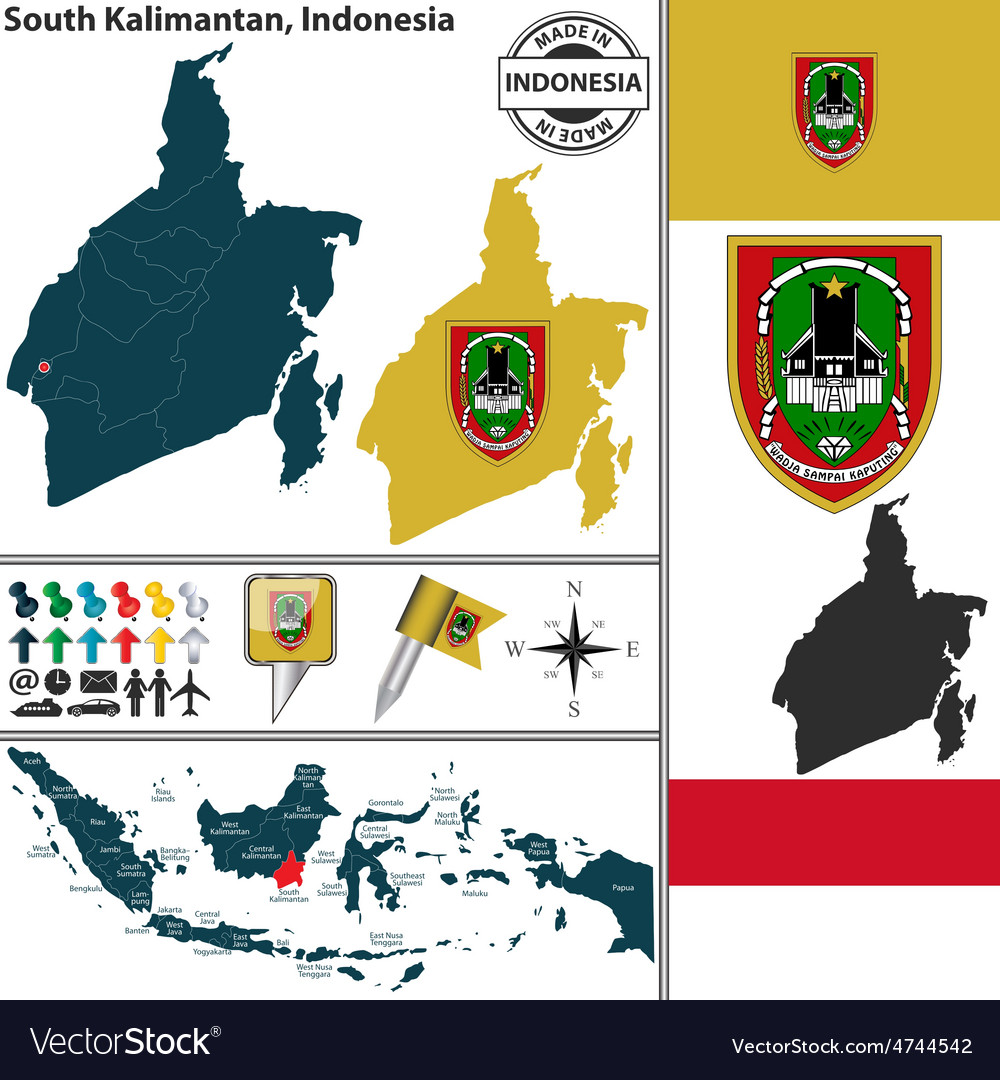 Map of south kalimantan vector | Price: 1 Credit (USD $1)
