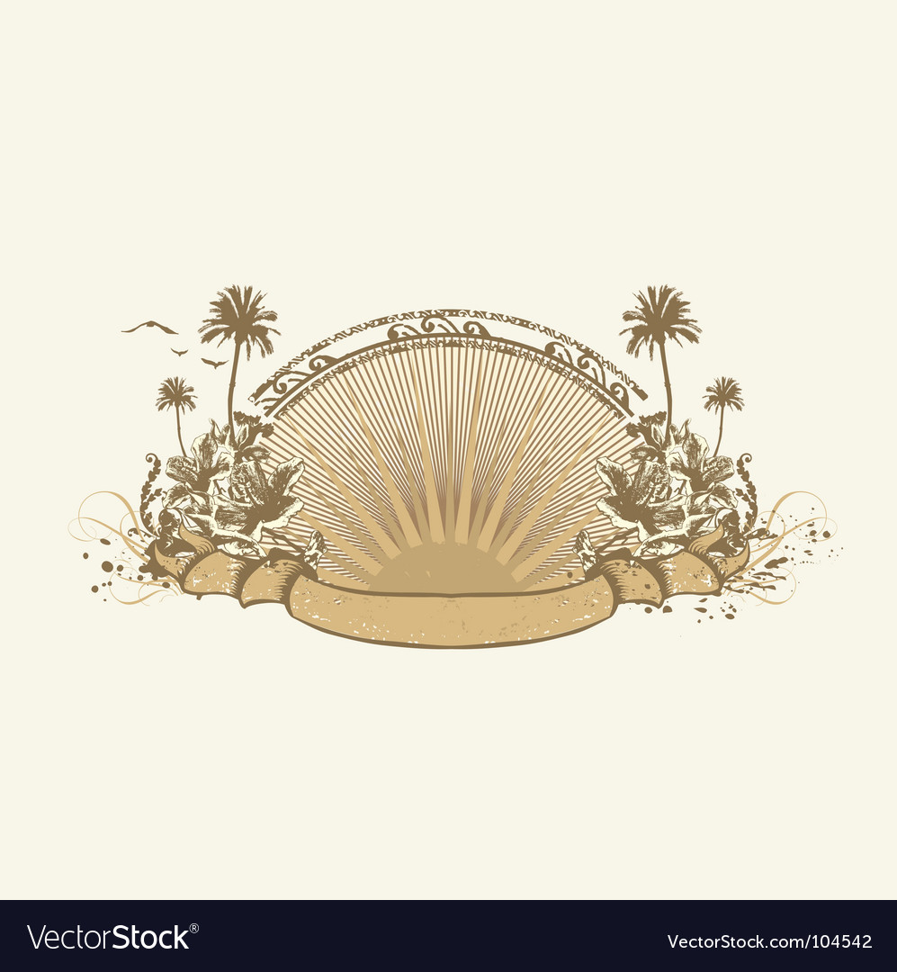 Ocean coast vector | Price: 1 Credit (USD $1)