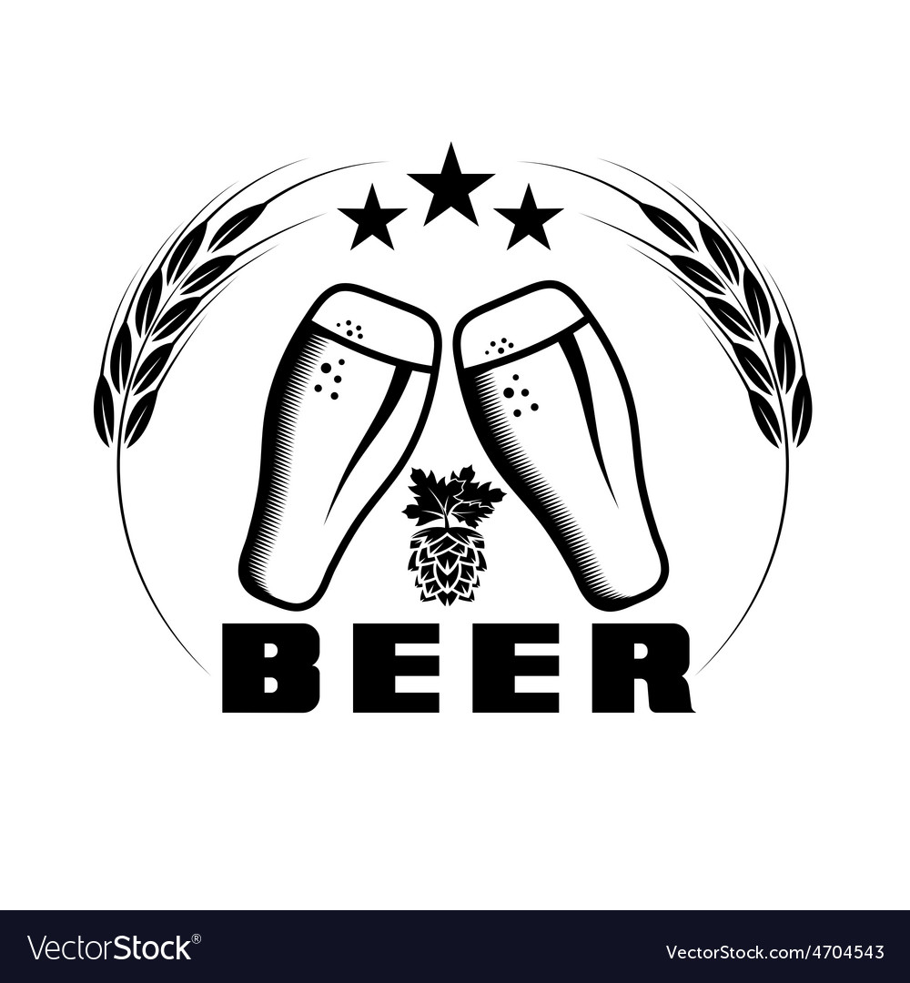 Beer emblem design template vector | Price: 1 Credit (USD $1)