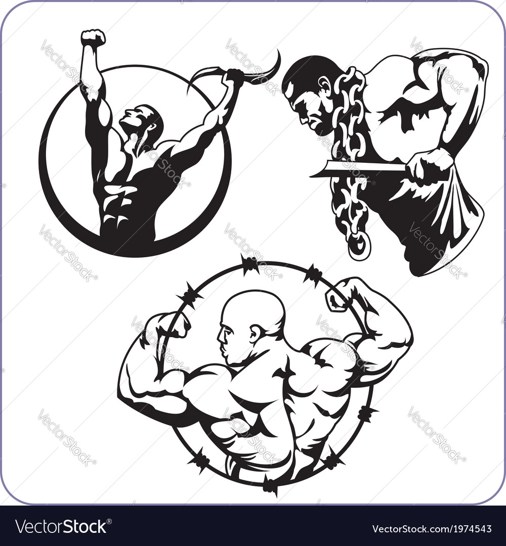 Bodybuilding and fitness - vector | Price: 1 Credit (USD $1)