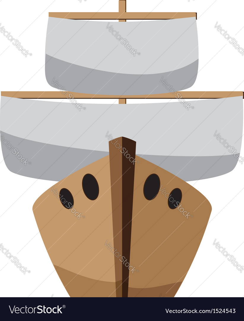 Cartoon boat vector | Price: 1 Credit (USD $1)