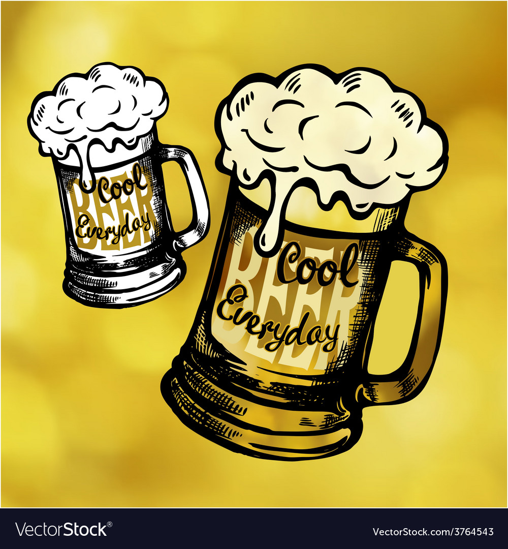 Cool fresh beer mag vector | Price: 1 Credit (USD $1)