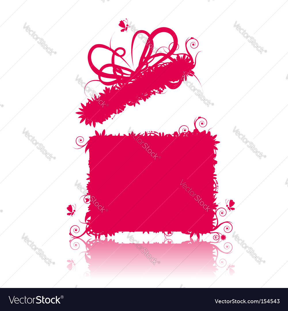 Gift box open present vector | Price: 1 Credit (USD $1)