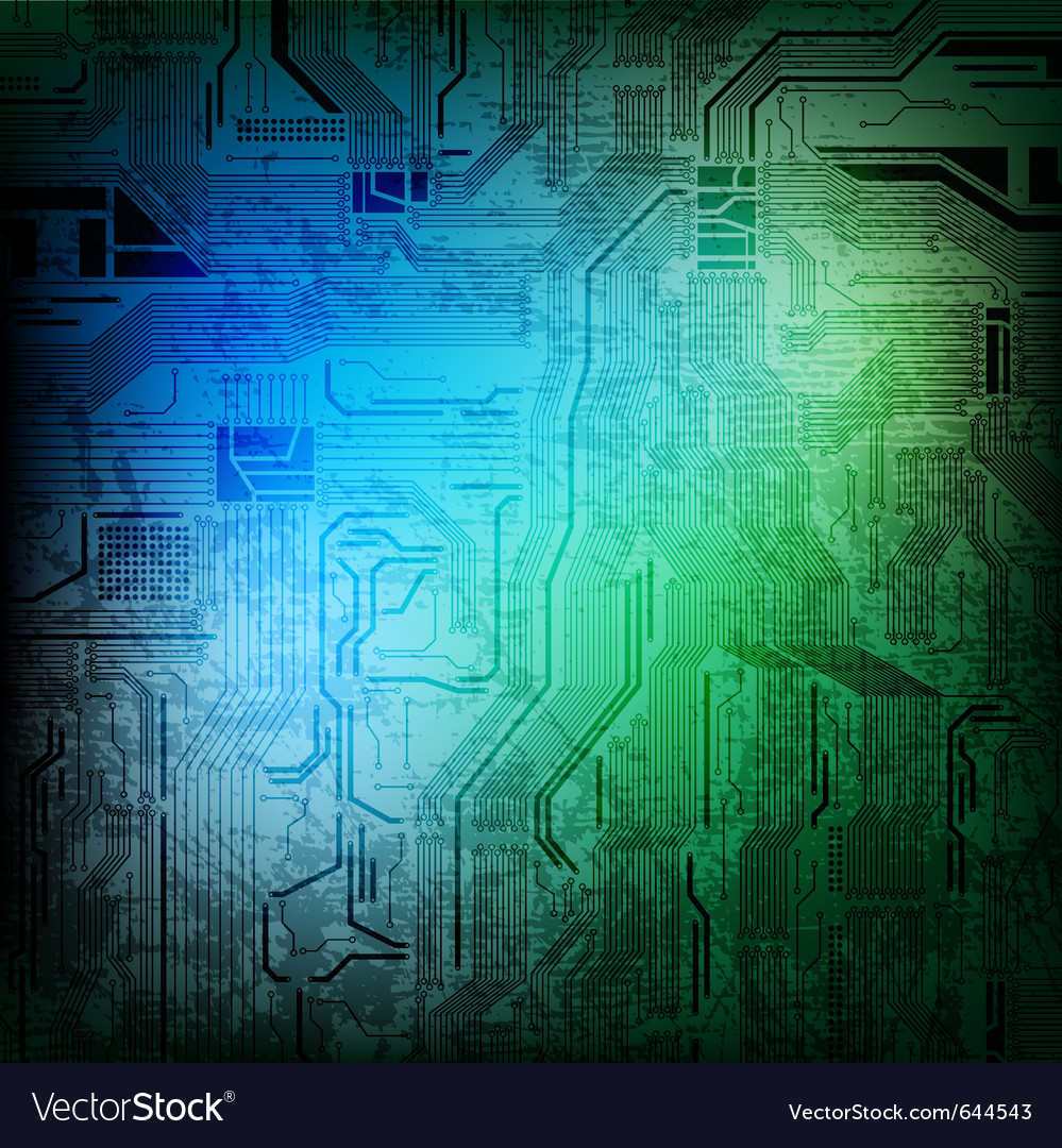 Grungy circuit vector | Price: 1 Credit (USD $1)