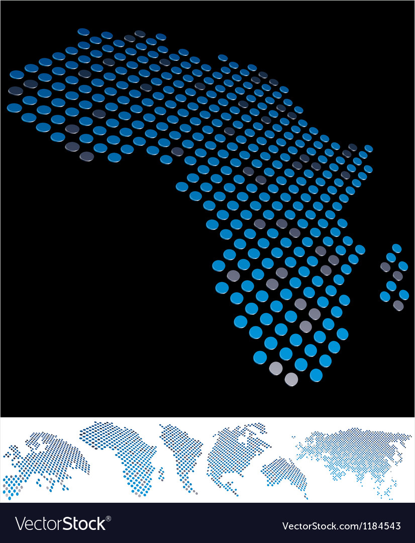 Map dot africa vector   Price: 1 Credit (USD $1)