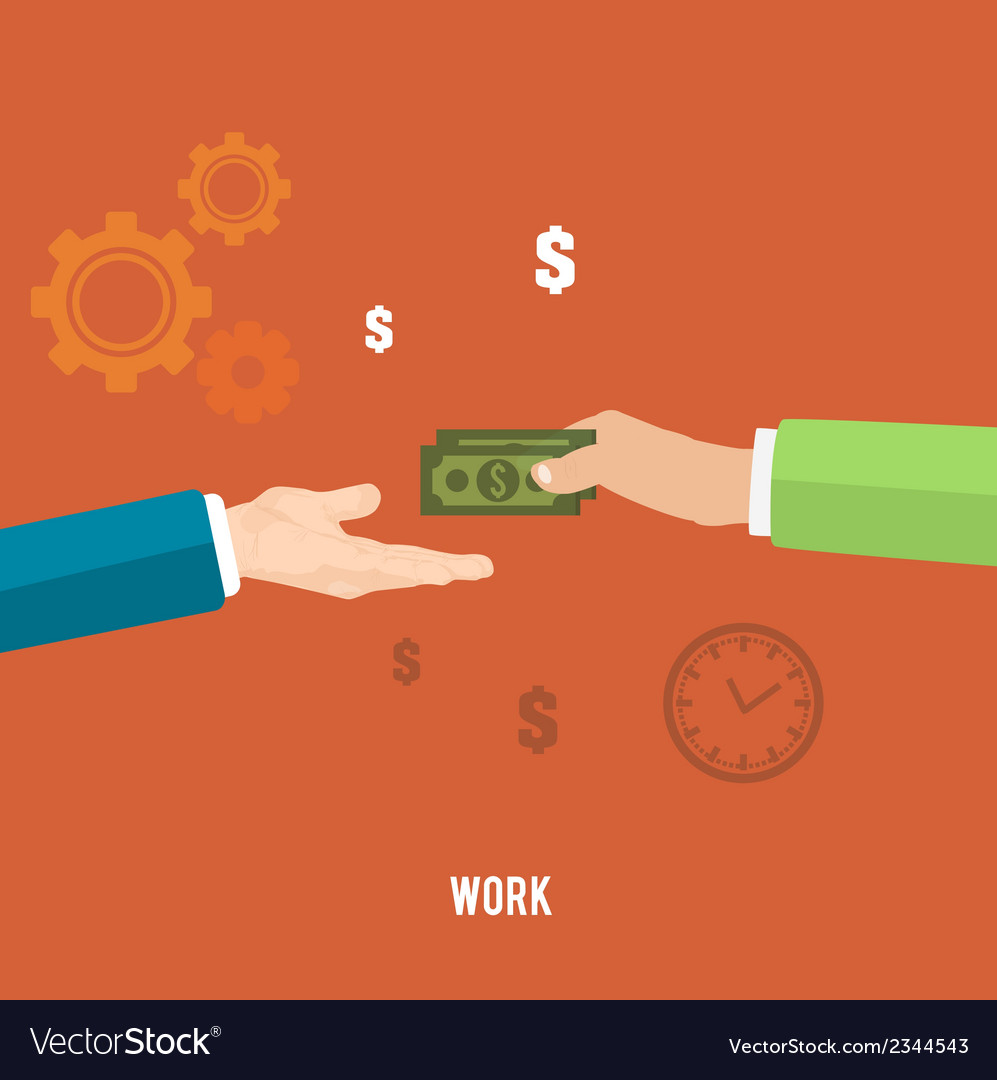 Payment for work vector | Price: 1 Credit (USD $1)