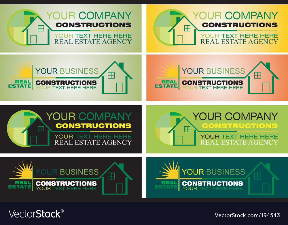 Real estate design elements vector | Price: 3 Credit (USD $3)