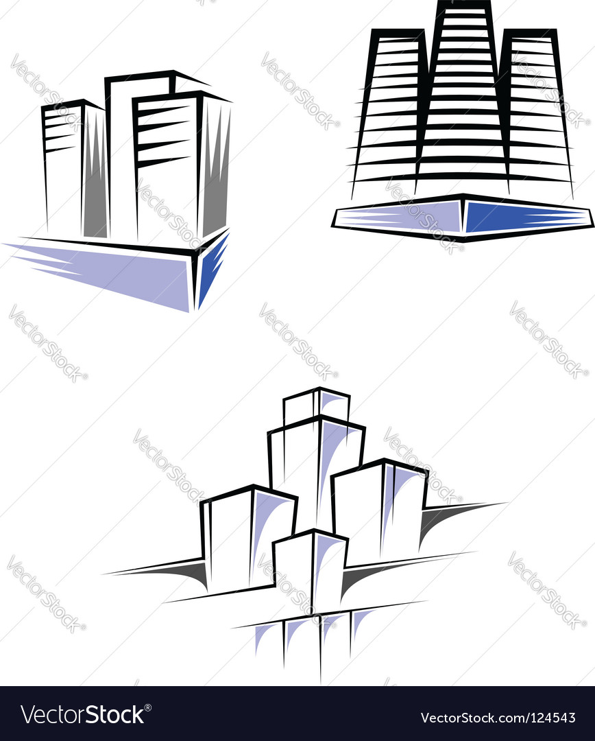 Real estate symbols vector | Price: 1 Credit (USD $1)