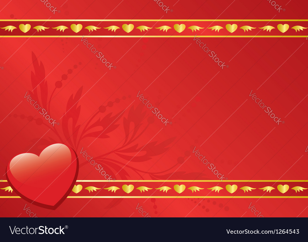 Red card with golden decor vector | Price: 1 Credit (USD $1)