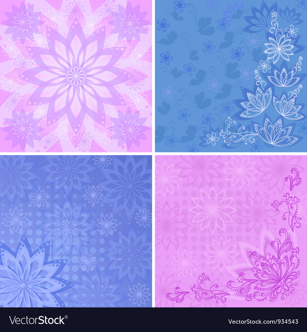 Set abstract floral backgrounds vector   Price: 1 Credit (USD $1)
