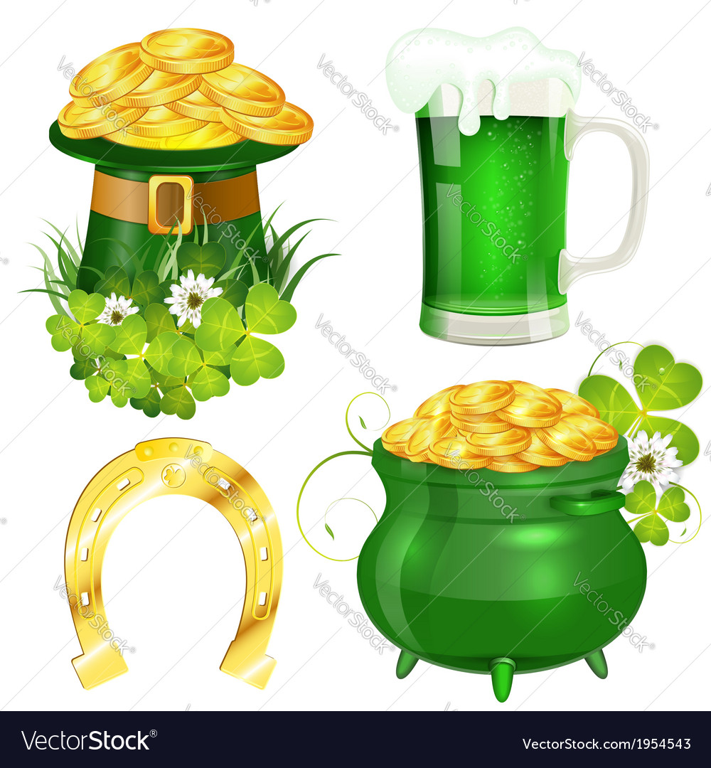 St patrick day symbols vector | Price: 1 Credit (USD $1)