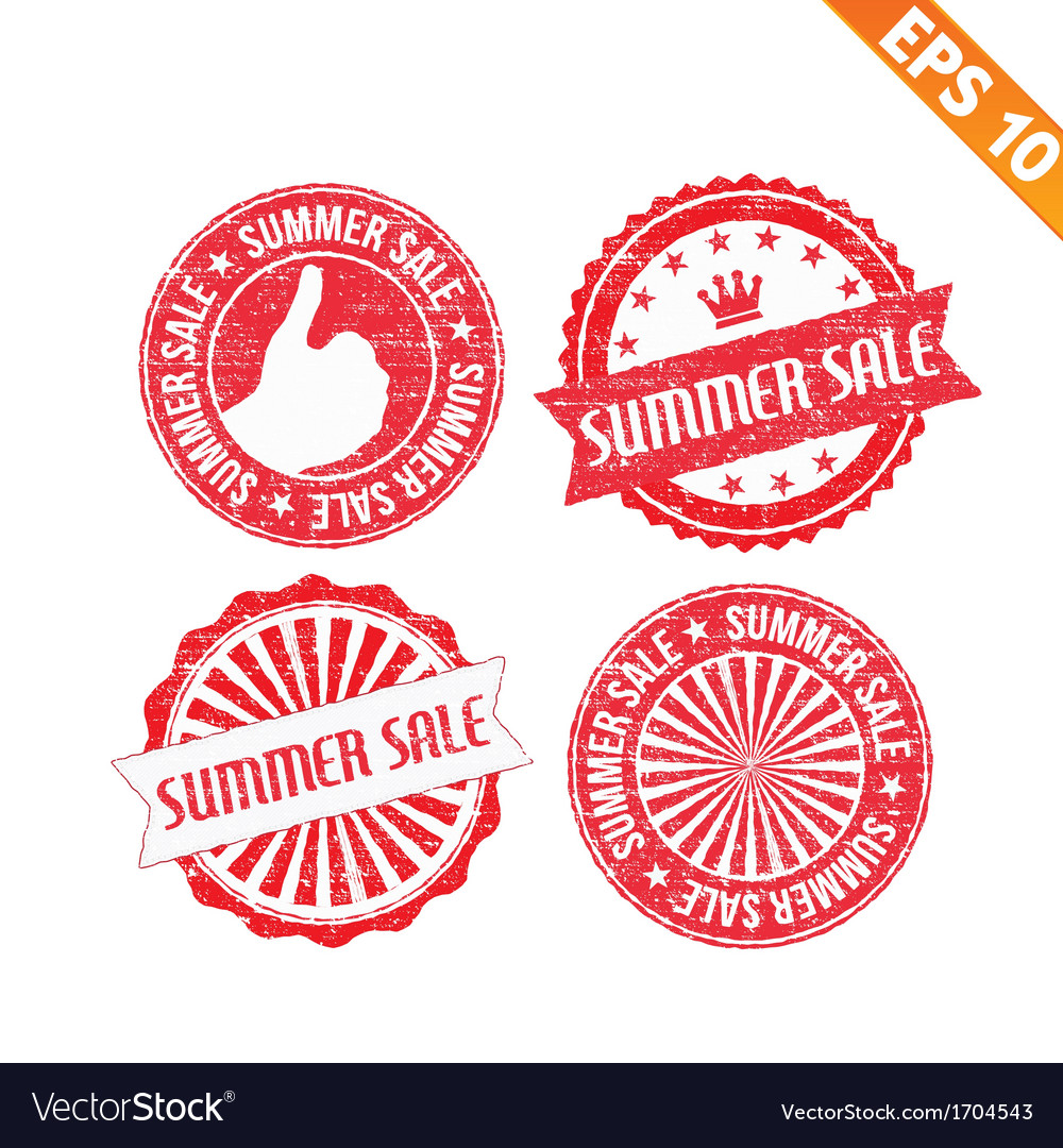 Stamp sticker summer sale collection - - ep vector | Price: 1 Credit (USD $1)