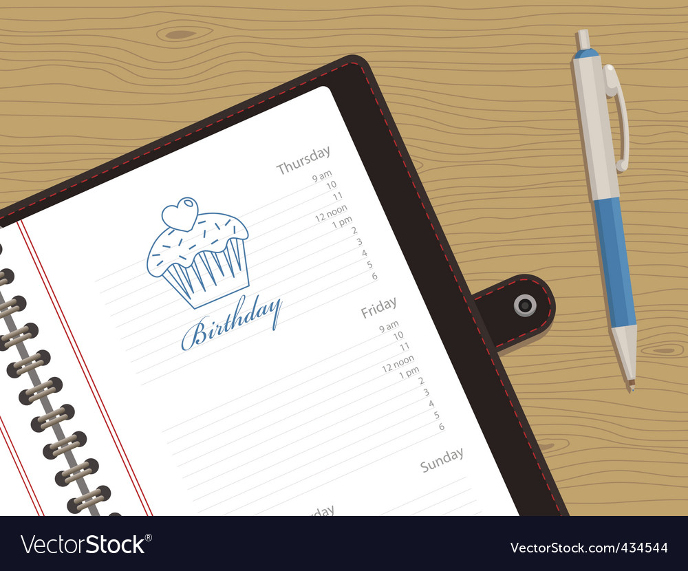 Appointment book vector | Price: 1 Credit (USD $1)