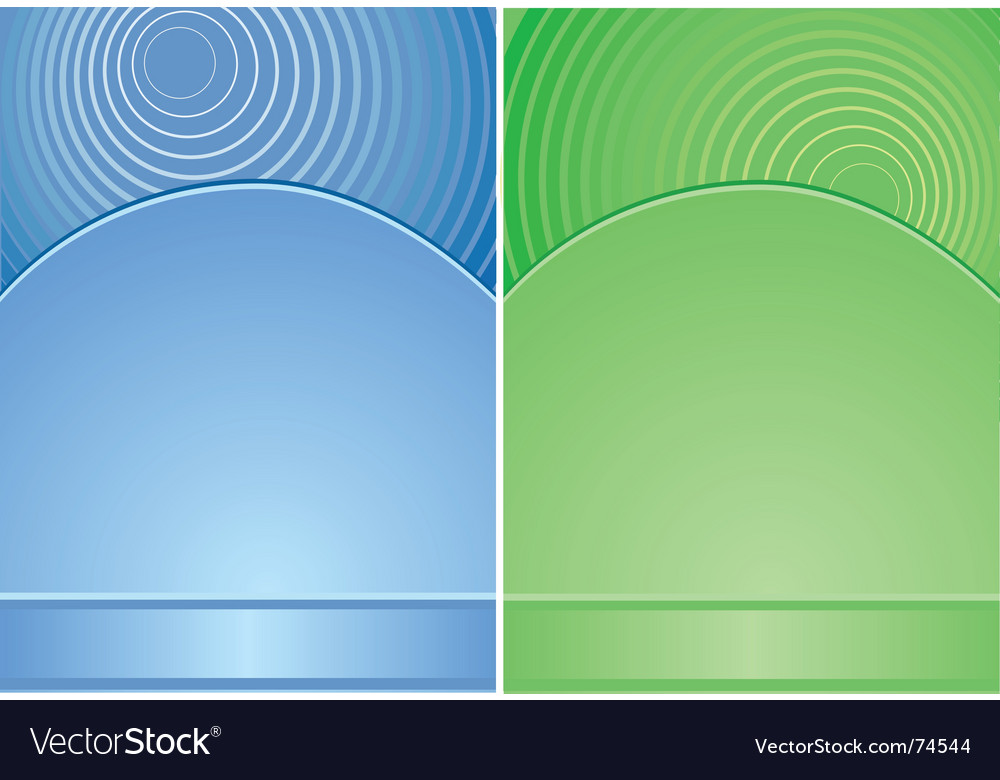 Blue and green background vector | Price: 1 Credit (USD $1)